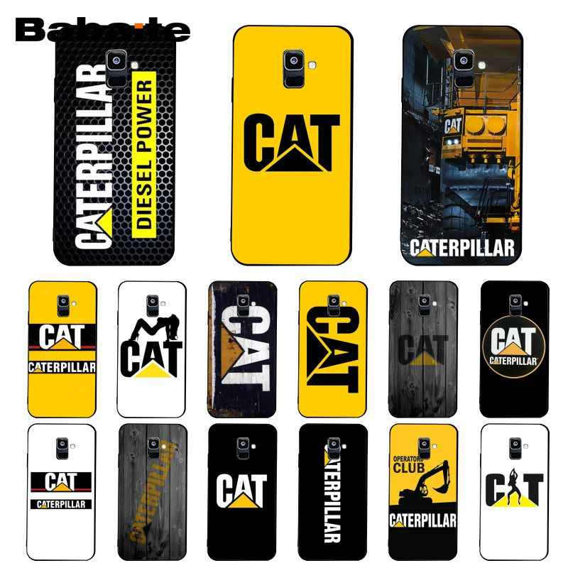 Babaite Caterpillar logotipo 3 caja del teléfono para Samsung Galaxy A7 A50 A70 A40 A20 A30 A8 A6 A8 más A9 2018 A51 A71 A80