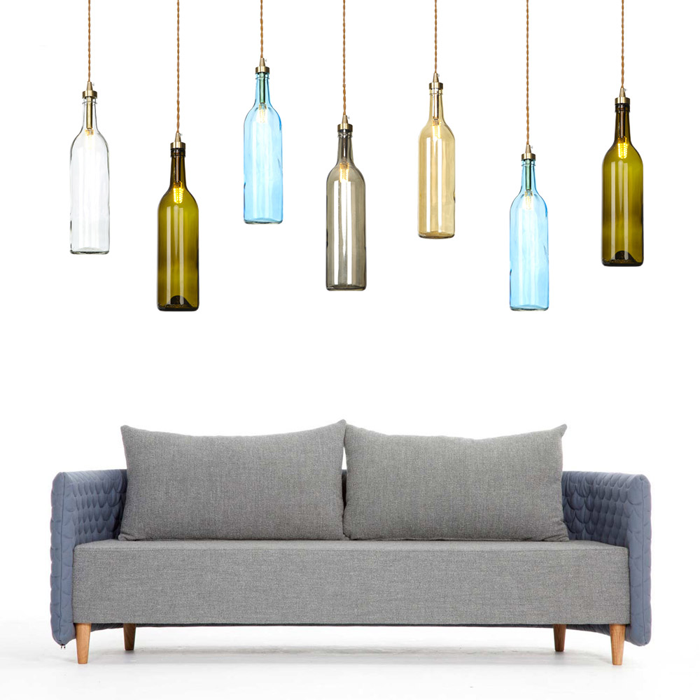 Nordic Industrial Style Vintage Pendant Lamp Pendant Light Wine Bottle Pedant Lamp For Dining Room Restaurant Hotel Project