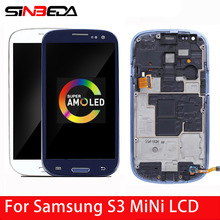 100%Super-Amoled Touch-Screen Samsung Galaxy LCD for S3 Mini I8190/i8190n I8195 Digitizer-Assembly