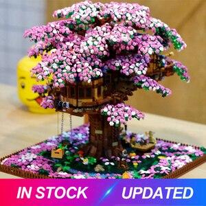 Image 1 - Nuevo Cerezo casa Compatible Idea serie 21318 bloques de construcción ladrillos juguetes educativos cumpleaños regalo de Navidad