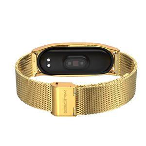 Image 5 - NFC Global Correa Mi Band 5 bransoletka z paskiem dla Xiaomi Mi Band 4 metalowa stal nierdzewna Mi Band 3 pasek inteligentna opaska Mi Band 5