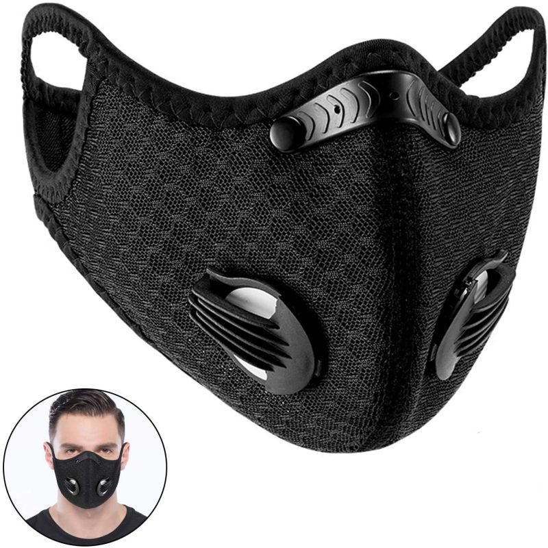 Outdoor PM2.5 Dust Mask Activated Carbon With Filter Cycling Sport Bicycle MTB Bike Face Mask