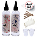 1:1 AB Epoxy resin Ultra-transparent Crystal Glue Two Component Epoxy Resin Sealant Quick Drying AB glue
