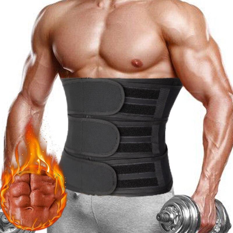 Men Waist Trainer Fitness Waist Trimmer Belt Workout Cincher Corsets Slimming Body Shaper Weight Loss Fat Burner Sweat Straps