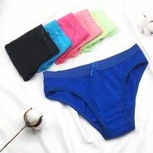 6 pçs/lote cuecas femininas 6 cor sólida de alta qualidade confortável algodão calcinha feminina m l xl 6953