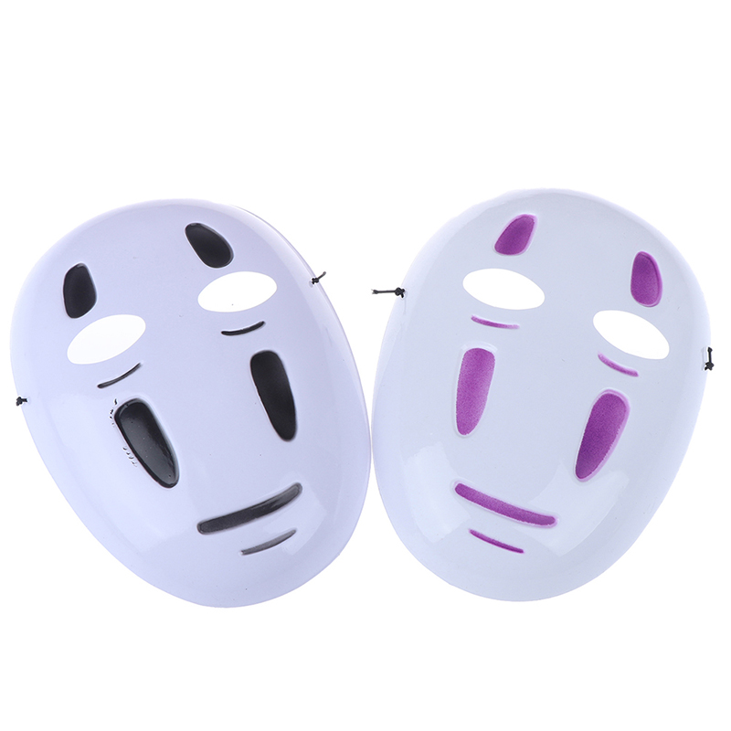 Spirited Away No-Face Mask Faceless Cosplay Helmet Fancy Anime Halloween Party Costume Japanese Masks Anime Toys