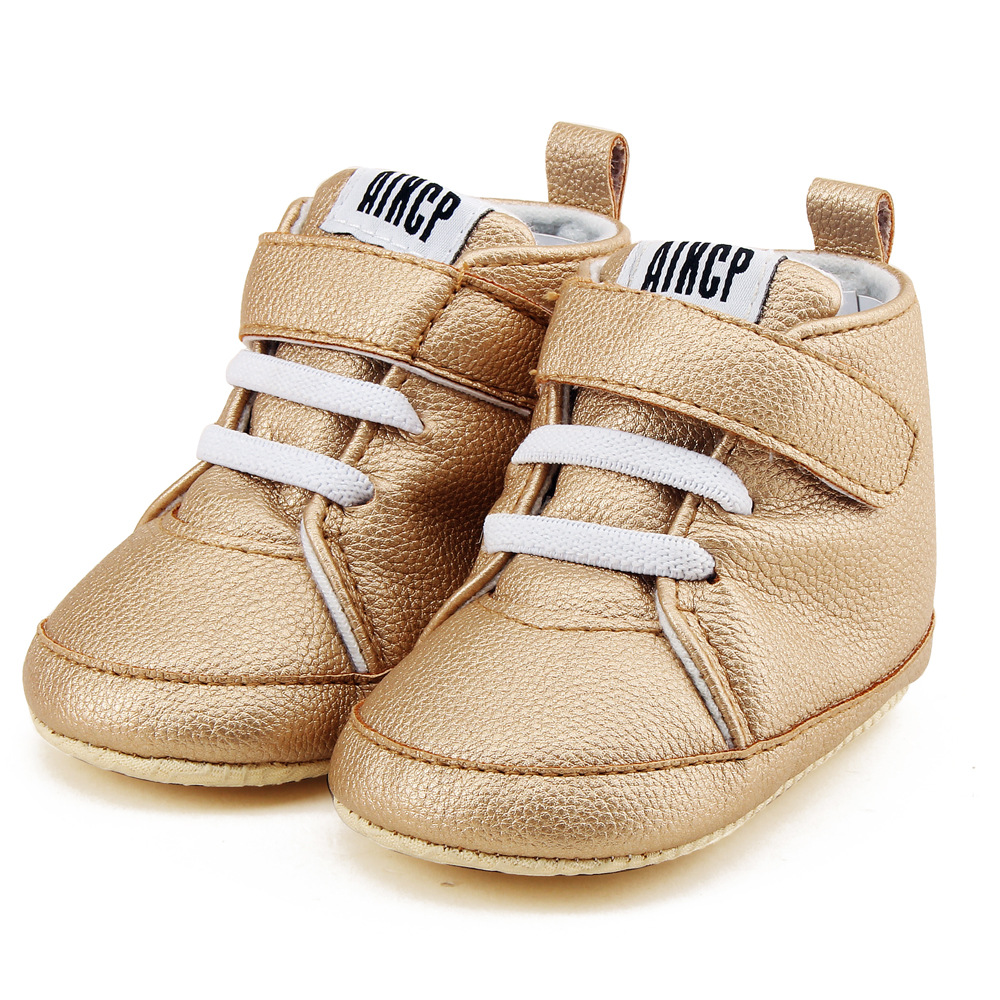 2020 Baby Shoes PU Leather Solid Infant Girl Boy Leisure Boot Soft Sole Fashion Prewalker Moccasins For 0-18M Dropshipping