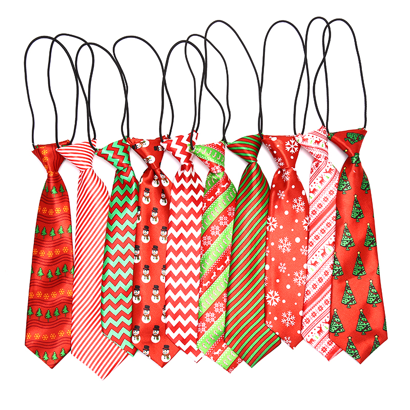 Fashion Christmas Jacquard Boys Ties Cartoon Children Neck Tie For Slim Gravatas Necktie For Gifts Casual Novelty Tie Neckties