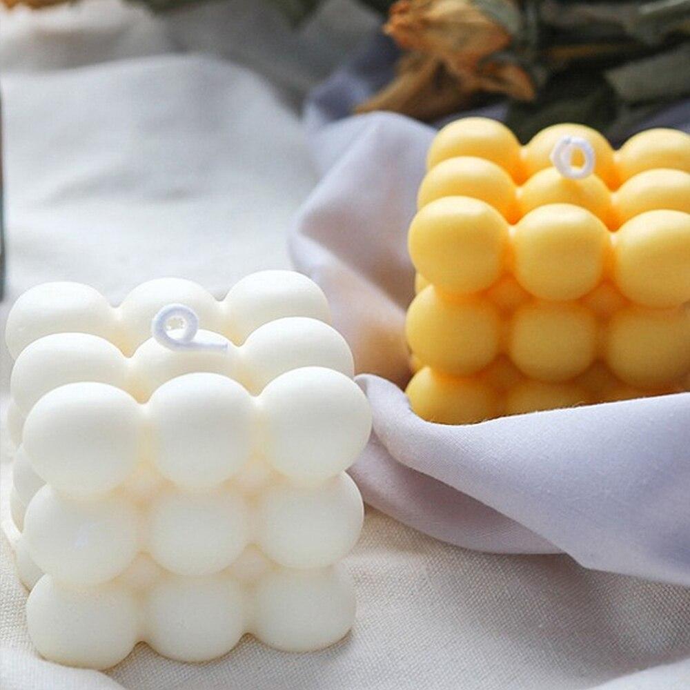 3d molde de silicone diy vela molde de soja cera scented molde artesanal aroma sabão vela molde aromaterapia gesso vela titular que faz