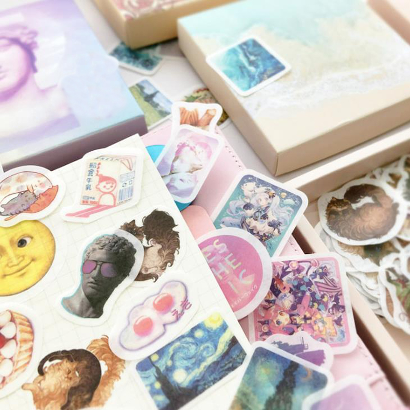 200 Pcs/pack Sky Cloud Impressions Animals Girls Decorative Stationery Stickers Scrapbooking DIY Diary Album Label Sticker