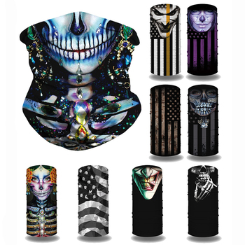 Outdoor Half Face Cover Balaclava Scarf Motorcycle Cycling Ghost Skull Face Mask Seamless Bandana Neck Gaiter Ring Scarves bjmoto cool skeleton skull motorcycle ski headband sport outdoor neck face mask mtb racing cycling windproof scarf balaclava