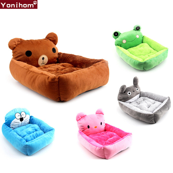 dog bed house four seasons universal enclosed house small dog teddy removable bed cat house winter warm pet supplies Cartoon Pet Soft Dog Bed House Winter Warming Dog House With Removable Cover Pet Cat Bed House Dog Beds for Small Dogs Blanket
