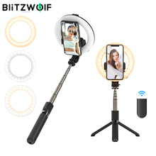 BlitzWolf BW BS8 Pro bluetooth Selfie Stick with Fill Light Portable Foldable Selfie Stick Tripod for Smartphone for Vlog Living