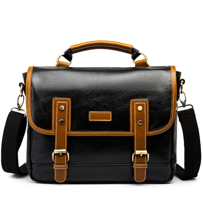 Vintage PU Leather Men's Briefcase Laptop Bag Business Handbag Men Shoulder Crossbody Bags Hombre Bolsa Briefcase New XA619C