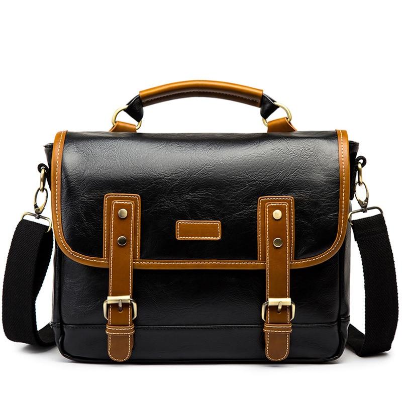Vintage PU Leather Men's Briefcase Laptop Bag Business Handbag Men Shoulder Crossbody Bags Hombre Bolsa Briefcase New XA619C