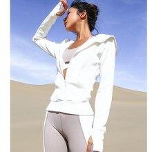 Женская спортивная куртка на молнии, с длинными рукавами, для бега, фитнеса, фитнеса