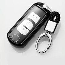 TPU+PC Car Key Cover Case fit for Mazda 2 3 5 6 2017 CX-4 CX-5 CX-7 CX-9 CX-3 CX 5 Accessories стоимость