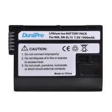 1pc 1900mAh EN-EL15 EN EL15 Rachargeable Camera Batterij Voor Nikon D600 D610 D600E D800 D800E D810 D7000 D7100 d750 V1 MH-25