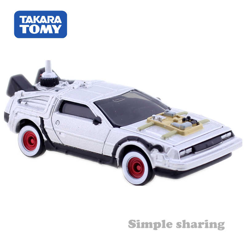 TAKARA TOMY Dream Tomica DeLorean PART3 Kembali Lokasi dan De Toekomst Diecast Logam Hot Pop Motor Model Verzamelingen Hadiah Mainan