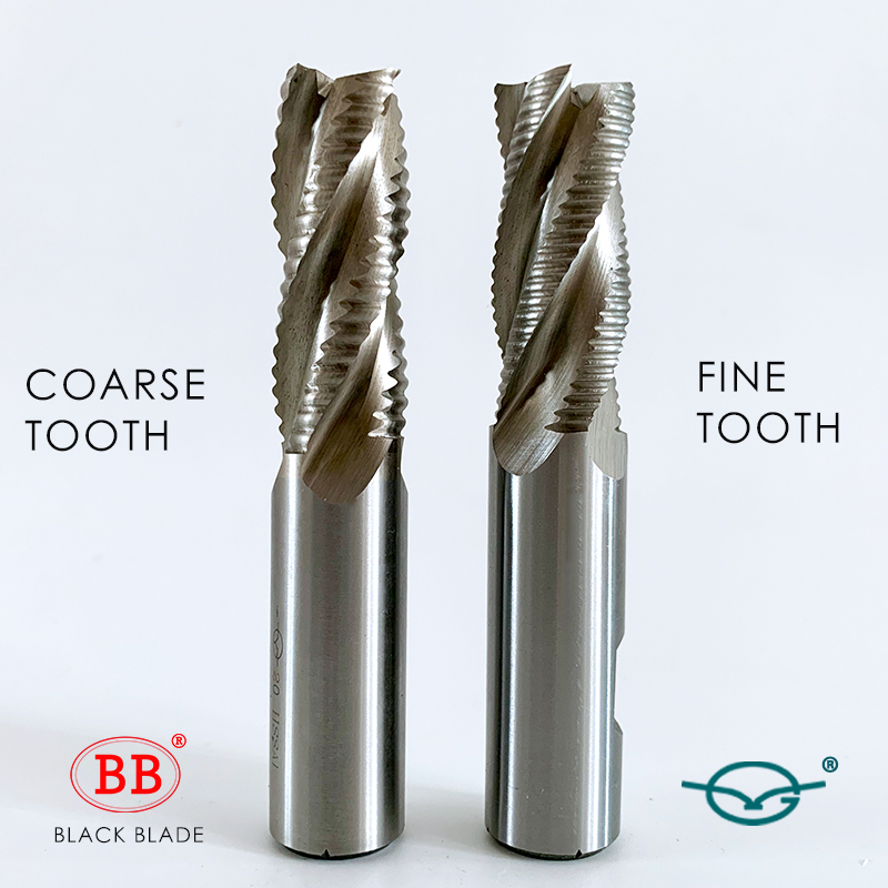 BB Roughing End Mill With High Performance HSS 3 4 Flute Fine Teeth Pitch Aluminum