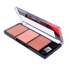 Paleta de rubor facial fácil de usar, maquillaje Natural en polvo, para mujeres colorete, paleta de rubor Natural, rubor duradero de colores con cepillo
