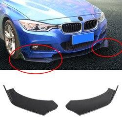 2 szt. Czarny błyszczący samochód splitter przedniego zderzaka wargi ochrona na nadwozie dyfuzor zestaw uniwersalny|Zderzaki|   -