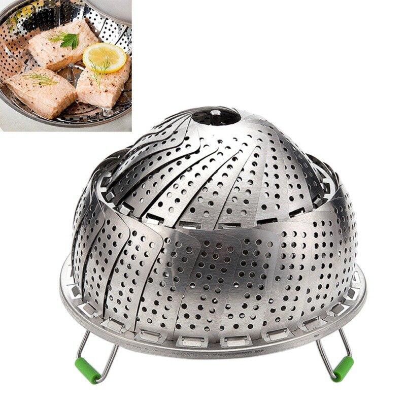 Dish Steamer Basket Stainless Steel Steamer Inserts For Pot Pans Crock And Pot Steamer Food Fruit Vegetable Vapor Cooker