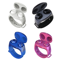 HM50 TWS 2 In 1 Bluetooth 5.0 Auricolari Senza Fili di Sport Vivavoce Auricolari Cuffie con Intelligente Wristband Della Vigilanza Del Braccialetto