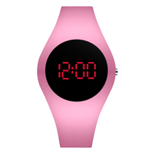 New!!! Pink Casual Women Watches LED Digital Sport Men watch Silicone Couple Watches Clock relogio digital montre homme cheap TEND Plastic CN(Origin) 10cm No waterproof simple Buckle Square 20mm Back Light LED Display Auto Date Mens sport watch No package