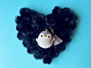 Чистая рука крючком пингвин кукла брелок Серый сидя плюшевые игрушки букет подарок плюшевая игрушка мягкая кошка кукла подарок кольцо для ...