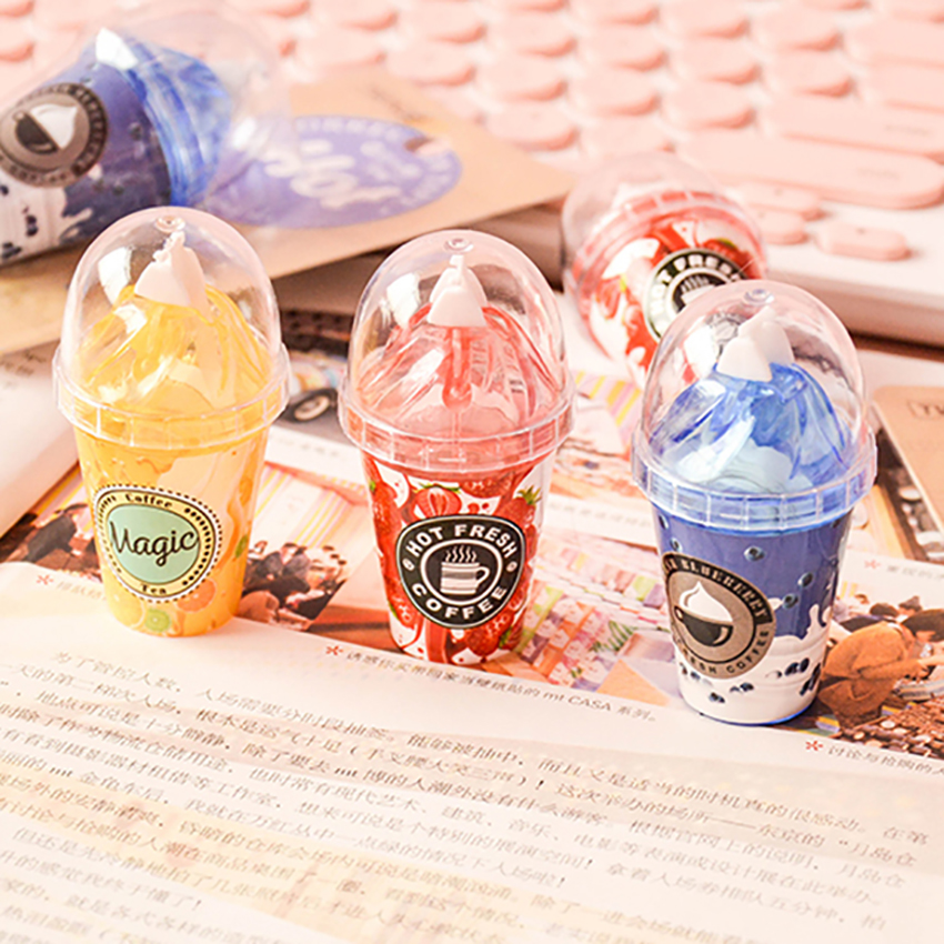 Novelty Ice Cream Shape Correction Tape Kids Writing Corrector  School Office Supplies Students Portable Correcting Tape