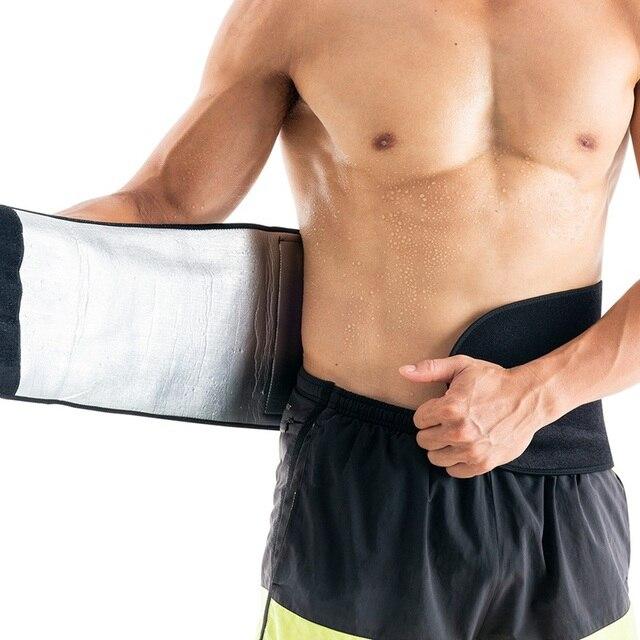 1pcs Men Adjustable Trainer Waist Support Fitness Belt Sport Protection Back Absorb Sweat Fitness Sport Protective Gear 2