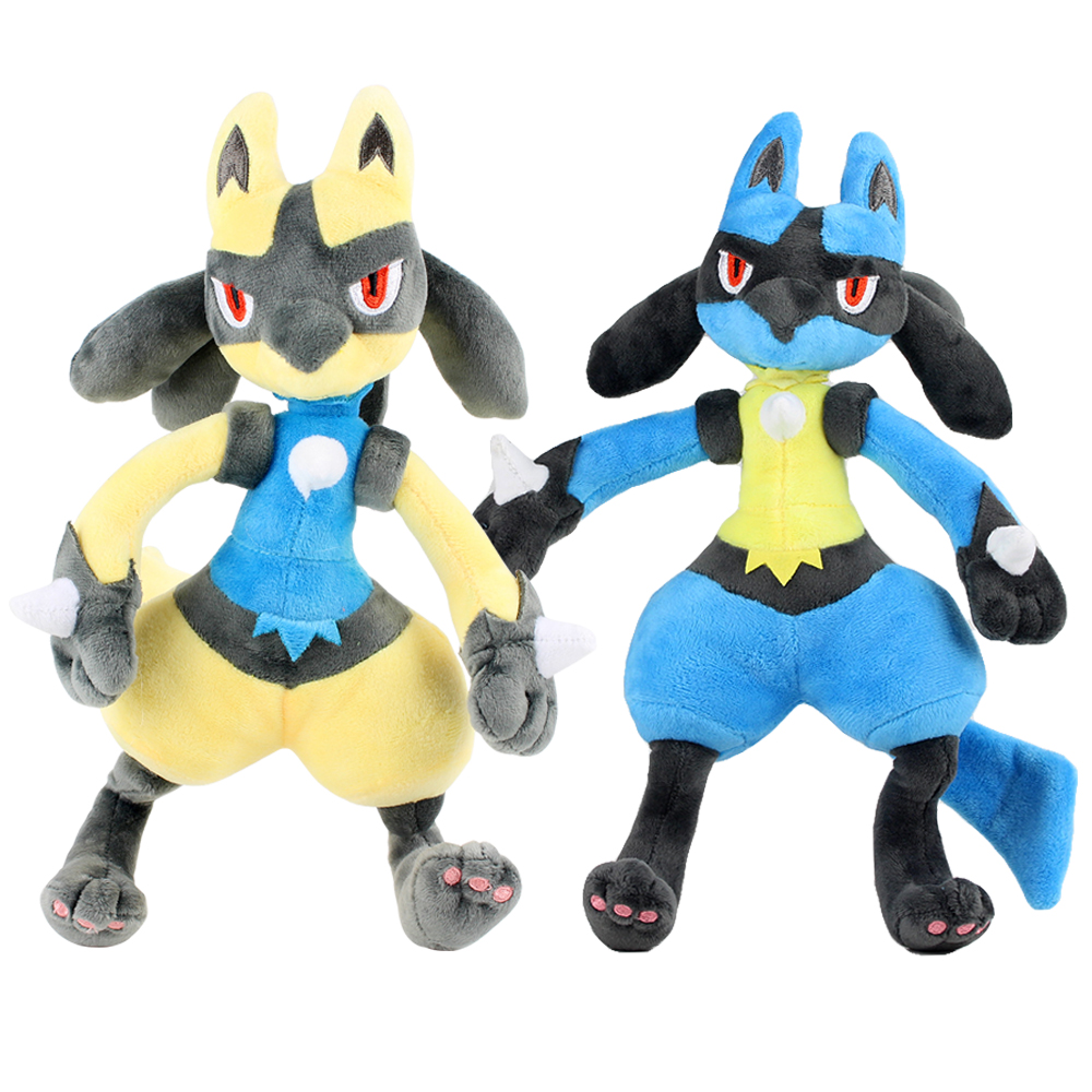 Shiny Lucario 30-31CM Plush Doll Soft Best Gifts Retail