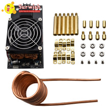 DC 12-36V 20A 1000W ZVS Induction Heating Board Module Heater With Cooling Fan 1000w zvs low voltage induction heating board module flyback heater brass coil induction heating module