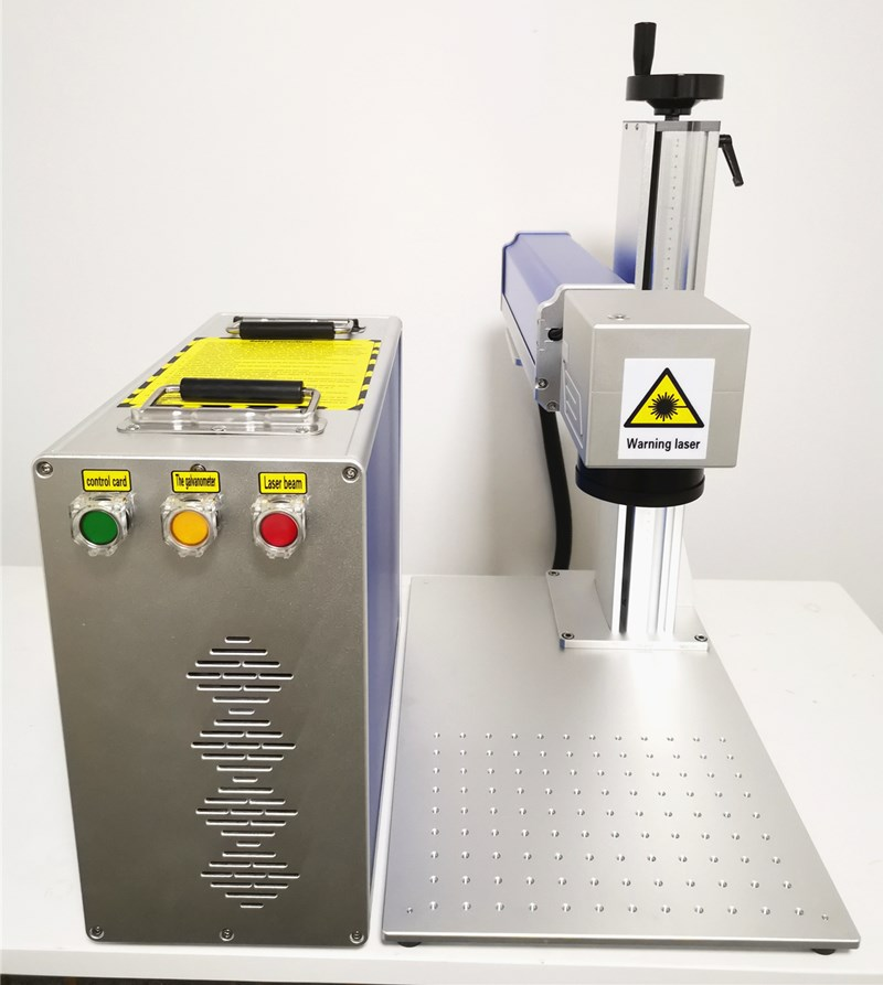 Fiber Laser Marking Machine With Rotary For Aluminum Gold/Silver And Copper Engraving