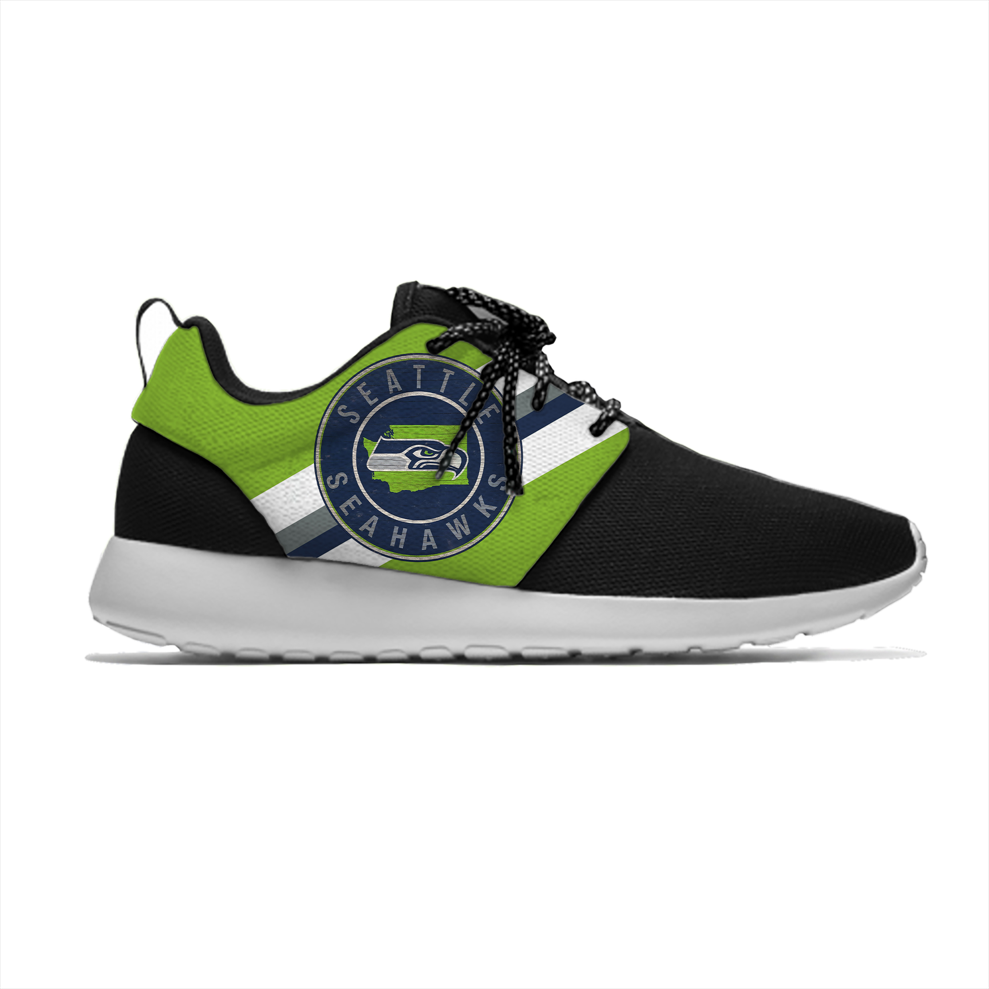 Seahawks Breathable Leisure Sport Sneakers Seattle Football Team Fans Lightweight Casual Men/Women Running Mesh Shoes image