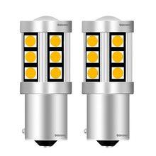 2 pçs 1156py 7507 py21w bau15s alta qualidade 3030 led indicador de direção traseira do carro lâmpada auto frente sinais de volta luz âmbar amarelo