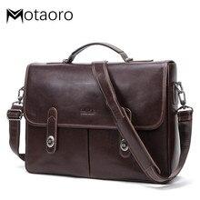 New Men Leather Handbag For 15.4 Inch Laptop Men's Business Briefcase Multi-functional Men's Shoulder Messenger Bag Bolso Hombre