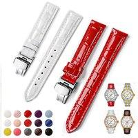 14mm 16mm 18mm 20mm Uhr Bands Für Uhr Frau Kalb Leder Strap für Tissot Dame T099 t050 T085 T055 T02 Armband Armband