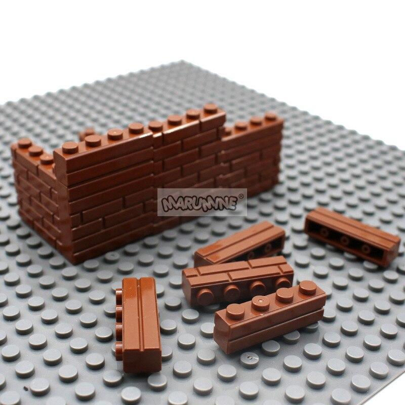 Image 5 - MARUMINE City Part 1x4 Dots Bricks 15533 Houses Wall Building Blocks Compatible Learning Classic DIY MOC Educational Toy SetStacking Blocks   -