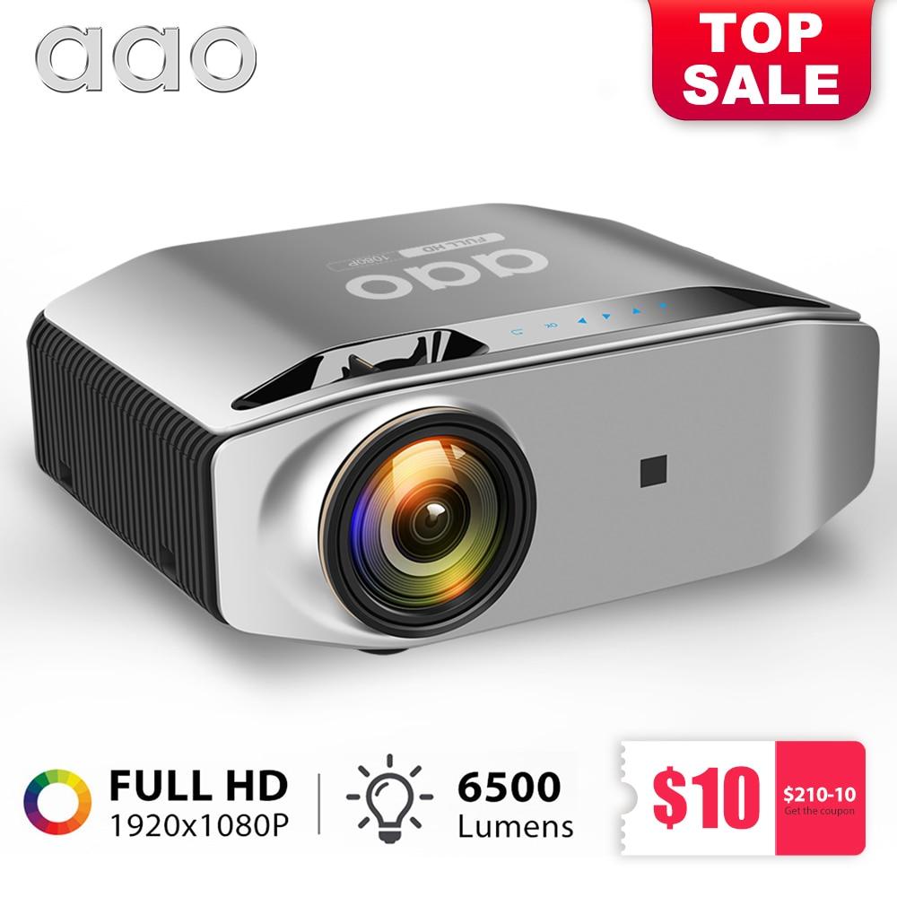 AAO Естественное разрешение 1080p Full HD проектор YG620 LED проектор 1920x1080P 3D домашний кинотеатр YG621 беспроводной WiFi Multi-Screen проектор для дома