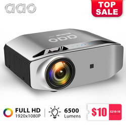 AAO Native 1080p Full HD Projector YG620 LED Proyector 1920x 1080P 3D Video YG621 Wireless WiFi Multi-Screen Beamer Home Theater