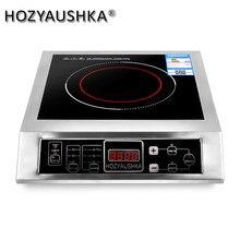 Cuiseur à Induction haute puissance 3500W, commercial, bouton de bureau plat, en acier inoxydable, pour faire sauter la soupe