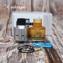 Coolvape Haday RDA 22mm e-papierosy Atomizer z Squonk Pin pojedyncza cewka waporyzator RDA Ultem Cap Atomizer vs le dripper rda tanie tanio thunderhead creations Metal Wymienne Silver Pei