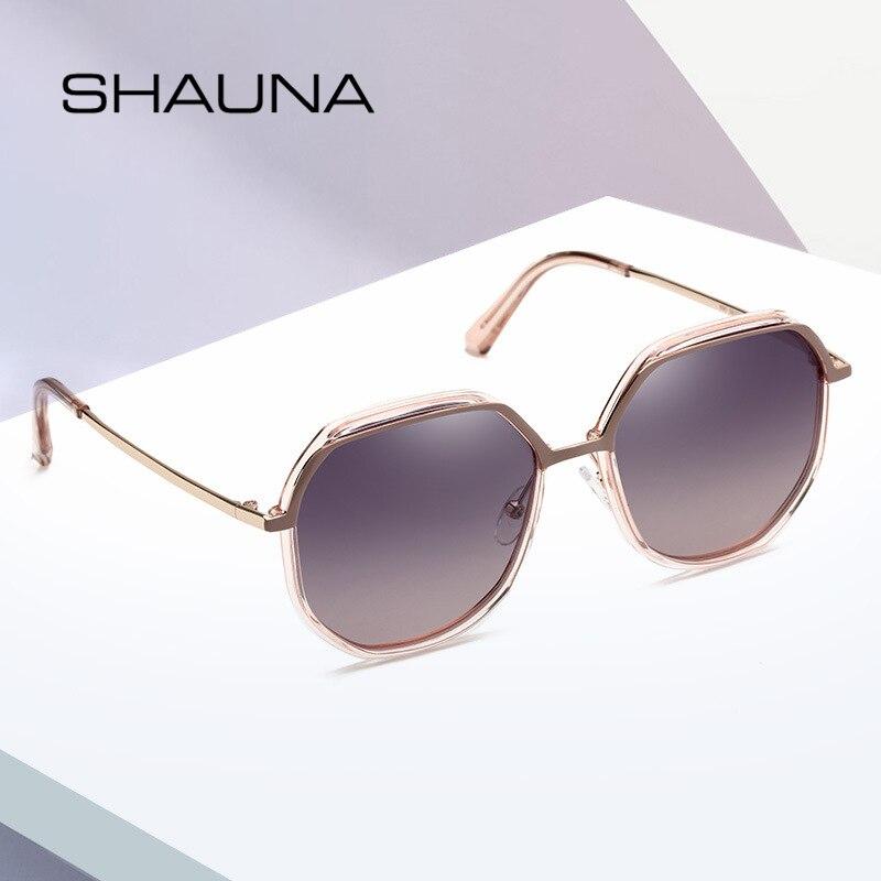 Ladies Driving Eyewear Lens Women Sunglasses Polygonal UV400 Fashion Oversized