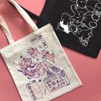 Bolso de animé japonés Shiba Inu para mujer, bolso de hombro de gran capacidad de diseñador, a la moda, Y2K, divertido, de lona Vintage