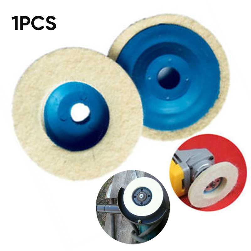 100mm 4 Wool Felt Buffing Wheel Polishing Disc Pad Fit For Angle Grinder Tools