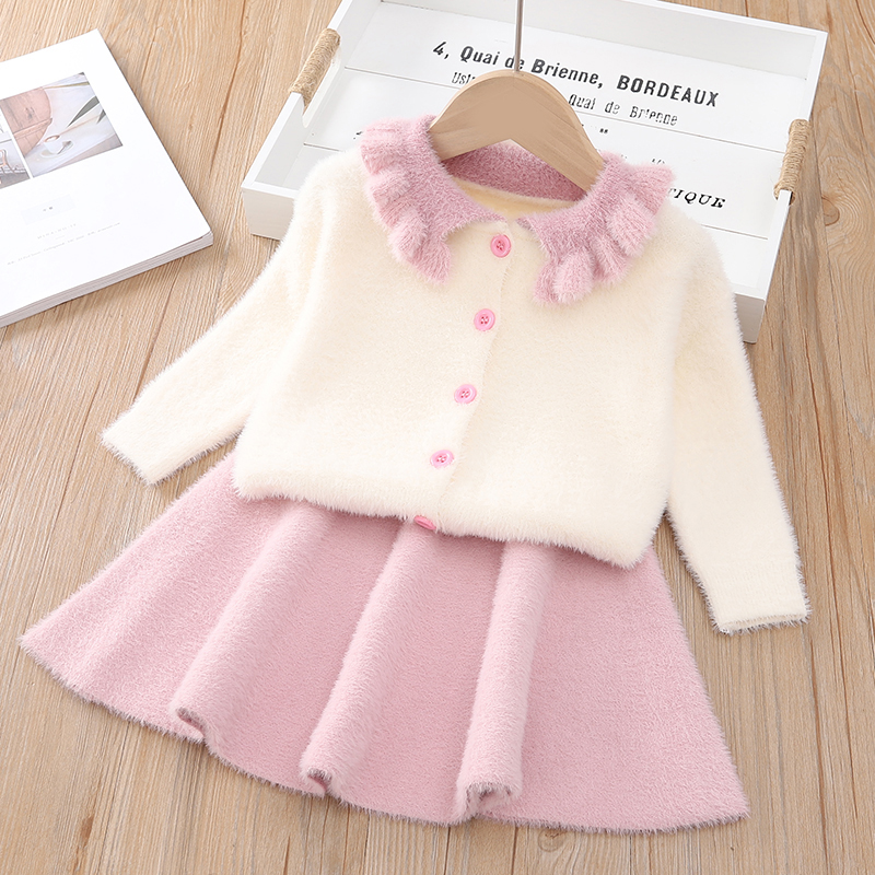 Hf64ba200bbb74cf29a0b42fe4cbe3e975 Bear Leader Girls Dress 2019 Winter Geometric Pattern Dress Long Sleeve Girls Clothes Top Coat+ Tutu Dress Sweater Knitwear 2pcs