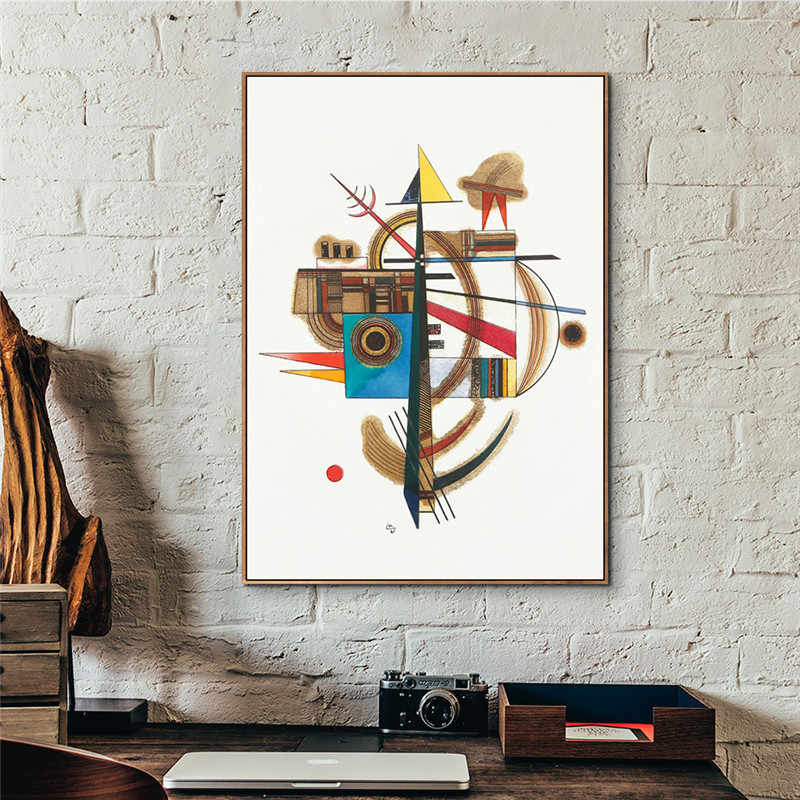 Abstract Art Wall Painting Prints and Posters Canvas Pictures For Living Room Cuadros Decor Art Picture By Wassily Kandinsky