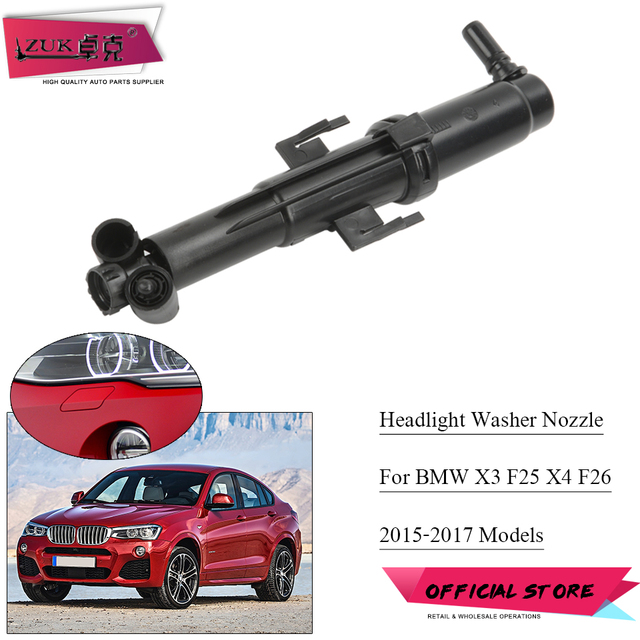 ZUK For BMW X3 F25 2015 2017 For BMW X4 F26 2015 2018 Headlamp Headlight Washer Cleaning Water Spray Nozzle Jet Actuator